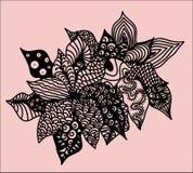 Flor de Zentangle Fotografia de Stock Royalty Free