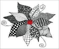 Flor de Zentangle Fotografia de Stock