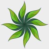 Flor decorada ilustração royalty free