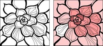 Flor decorativa ilustração royalty free