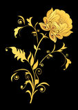 Flor decorativa amarela Fotografia de Stock Royalty Free
