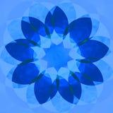 Flor decorativa azul Fotos de archivo