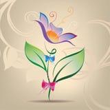 Flor decorativa con un arco Imagen de archivo