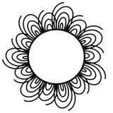 Flor decorativa do anel do círculo Imagens de Stock