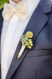 Flor del agujero de botón de la boda Fotografía de archivo libre de regalías
