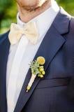 Flor del agujero de botón de la boda Imagen de archivo libre de regalías