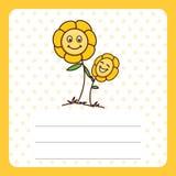 Flor del bebé con área de texto Imágenes de archivo libres de regalías