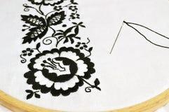 Flor del bordado Fotografía de archivo libre de regalías