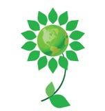 Flor del cambio de clima stock de ilustración