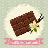 Flor del chocolate y de la vainilla Imágenes de archivo libres de regalías