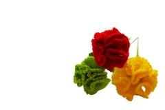 Flor del clavel del ganchillo hecha a mano Foto de archivo