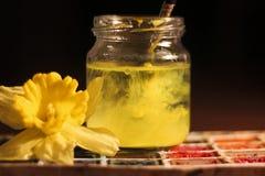 Flor del color y del amarillo del arte Foto de archivo libre de regalías