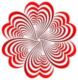 Flor del corazón Imagen de archivo libre de regalías