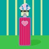 Flor del corazón de la botella de perfume de la fragancia Foto de archivo