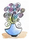 Flor del cuento de hadas de la pintura de la acuarela Imagenes de archivo
