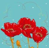 Flor del dibujo de la mano Foto de archivo