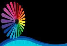 Flor del espectro en fondo negro Imagen de archivo libre de regalías