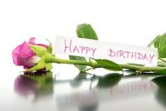 Flor del feliz cumpleaños Imágenes de archivo libres de regalías