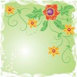 Flor del fondo de Grunge, elementos para el diseño ilustración del vector