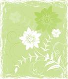 Flor del fondo de Grunge, elementos para el diseño, vector Foto de archivo libre de regalías