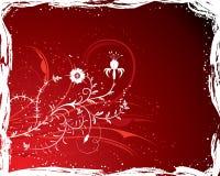 Flor del fondo de Grunge, elementos para el diseño (vector) stock de ilustración
