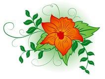 Flor del fondo, elementos para el diseño, ilustración del vector Imagenes de archivo