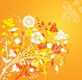 Flor del fondo, elementos para el diseño, vector Imagen de archivo libre de regalías