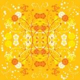 Flor del fondo, elementos para el diseño, vector ilustración del vector
