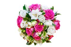 Flor del fondo - rosas y orquídeas en un ramo imagen de archivo