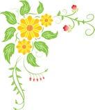 Flor del fondo, vector Foto de archivo libre de regalías