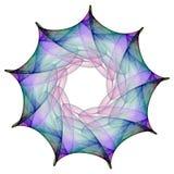 Flor del fractal stock de ilustración