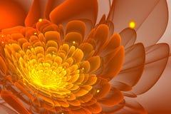 Flor del fractal con los puntos amarillos Foto de archivo libre de regalías
