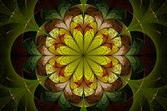Flor del fractal del resorte stock de ilustración