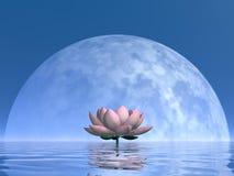 Flor del lirio por noche - 3D rinden stock de ilustración