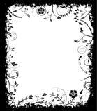Flor del marco de Grunge, elementos para el diseño, vector ilustración del vector