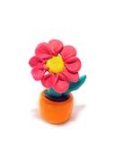 Flor del Plasticine Fotografía de archivo libre de regalías