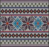 Flor del suéter del modelo que hace punto Foto de archivo