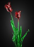 Flor del vidrio Fotos de archivo libres de regalías