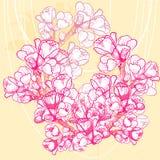 Flor delicada de la primavera del vector en fondo Imagen de archivo libre de regalías