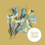 Flor delicada del azafrán del ejemplo ilustración del vector