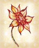 A flor desenhada ilustração stock