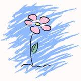 Flor desenhada do vetor mão bonito Imagens de Stock