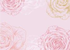 Flor desenhada mão ilustração do vetor