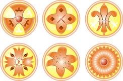 Flor determinada del icono, vector stock de ilustración
