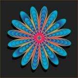 Flor do arco-íris do vetor Imagens de Stock Royalty Free