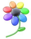 Flor do arco-íris - multi pétalas coloridas de Daisy Flower ilustração stock
