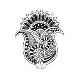 Flor do boho de Zentangle Fotos de Stock
