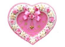 Flor do coração isolada Fotografia de Stock