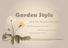 Flor do dente-de-leão watercolor Imagens de Stock Royalty Free