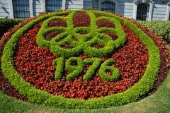 Flor do fundamento do tapete de Mosaiculture Fotos de Stock